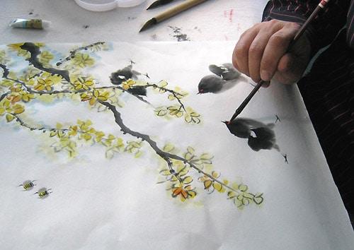 как нарисовать цветущую ветку жасмина, мастер-класс