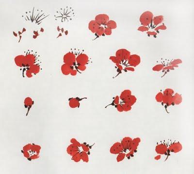 цветы в китайской живописи