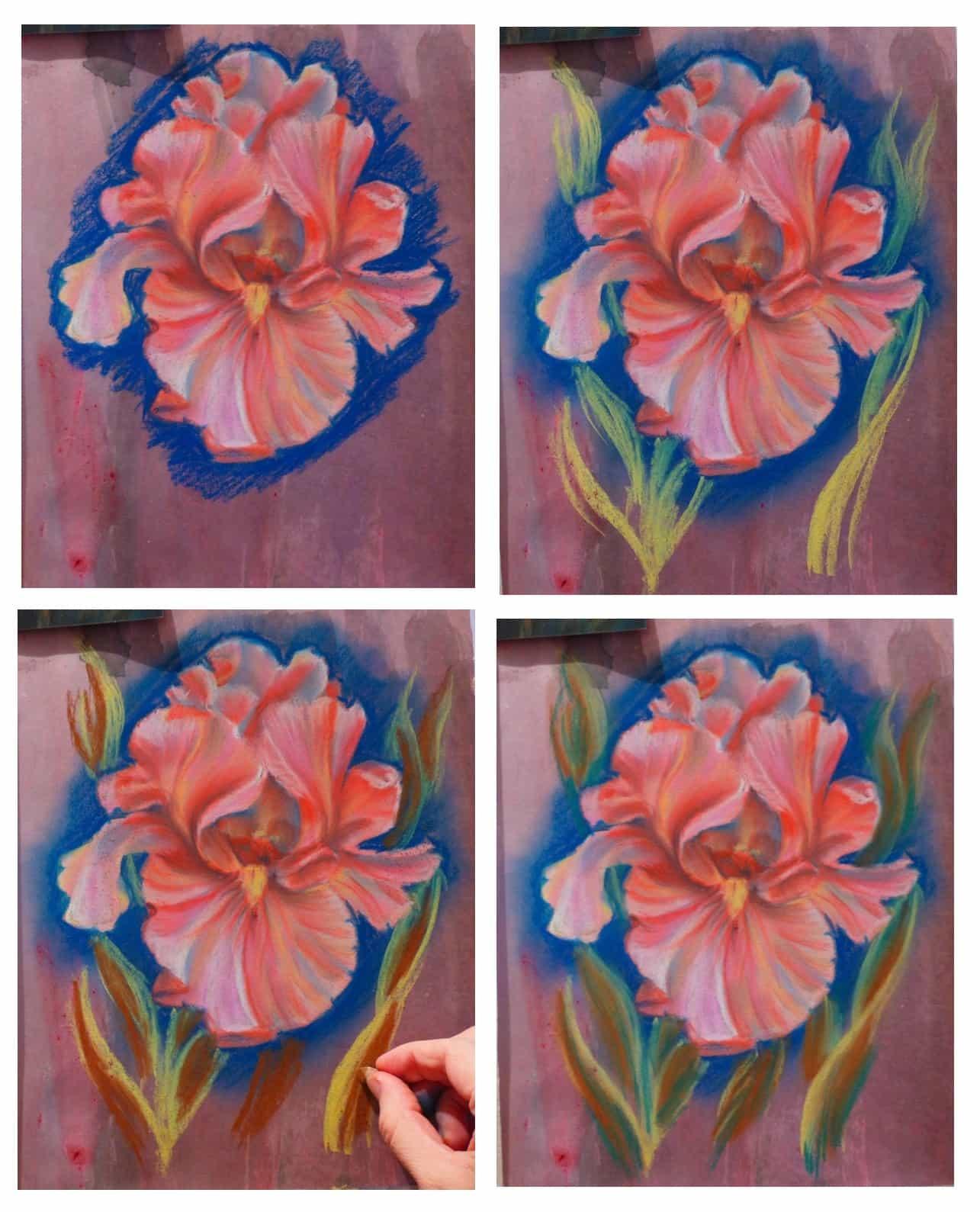 цветочный мастер-класс, розовые ирисы