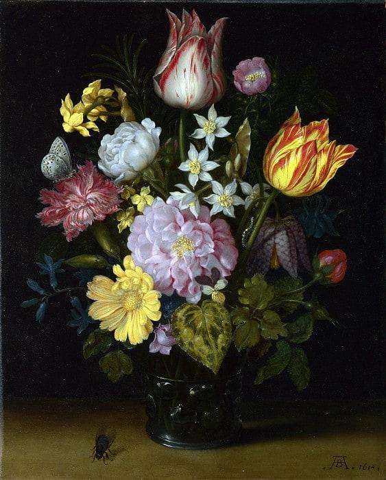 рисовать цветы в вазе, натюрморт