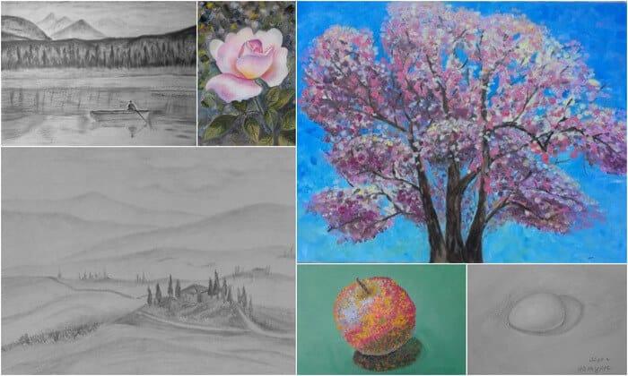 Школа рисования онлайн Марины Трушниковой курсы рисования для взрослых