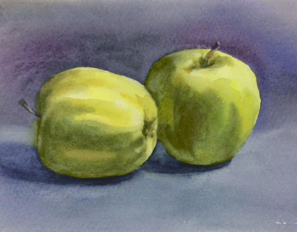 Мои яблоки на мастер-класса Е.Базановой