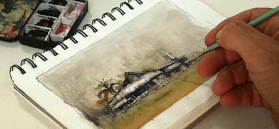 рисуем акварелью в путешествиях