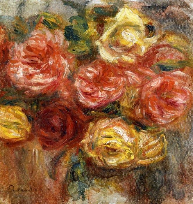Лизиантусами пионами букет весенних цветов ренуар