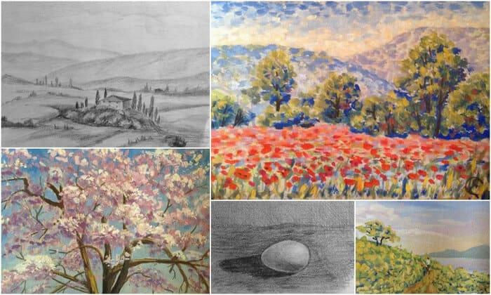 основы рисунка и живописи, школа Мары Трушниковой