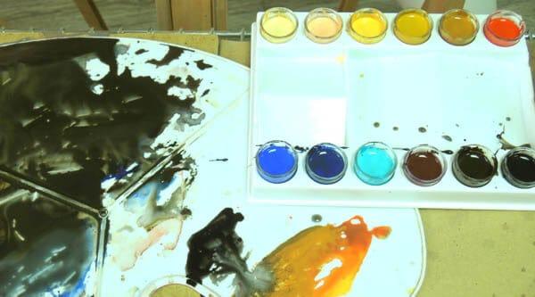 Краски и палитра Александра Воцмуша