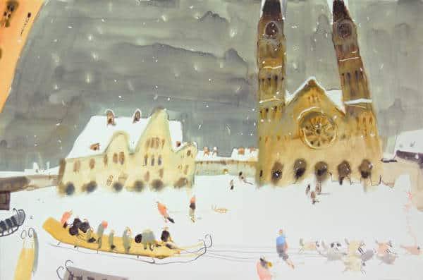 Картина Александа Воцмуша на мастер-классе