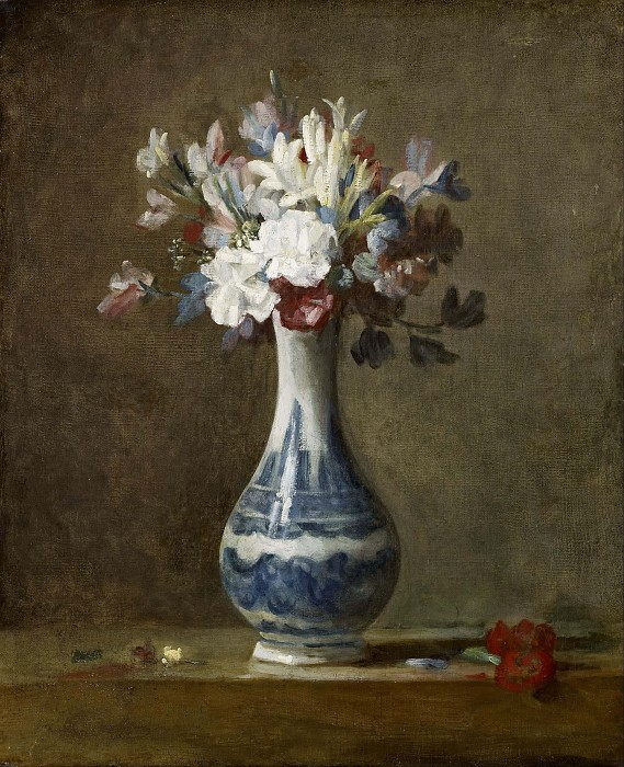 нарисовать букет цветов в вазе, симметрия