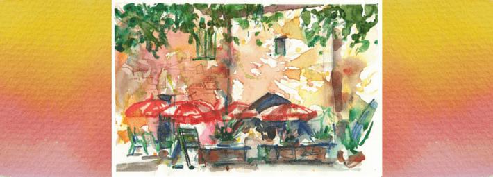 городской пейзаж, зарисовка, этюд