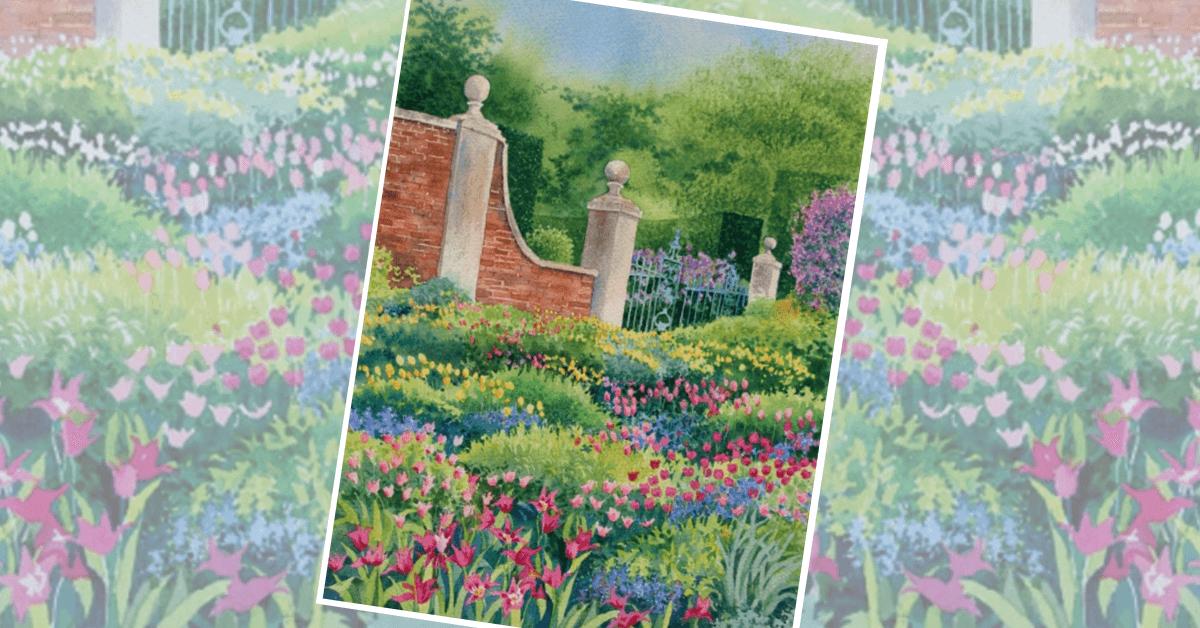 как нарисовать тюльпаны акварелью