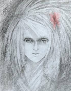 Портрет, акварельные карандаши