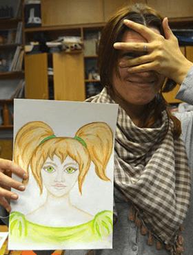 Внуитренний ребенок, портрет акварельными карандашами