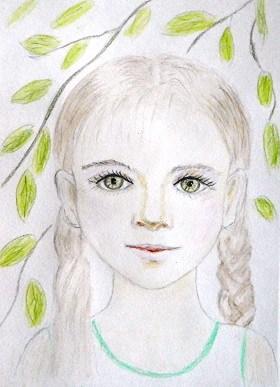 ребенок, рисование, карандаши, девочка