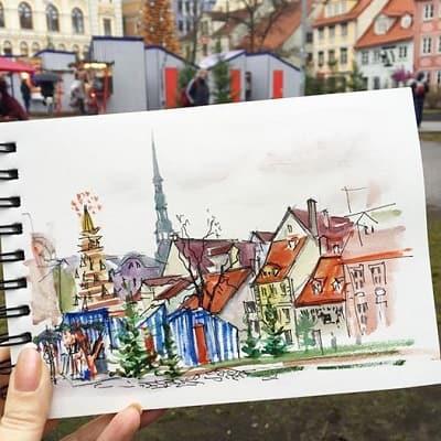 Что рисовать: зарисовки в путешествиях