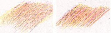 Свободное штрихование цветными карандашами