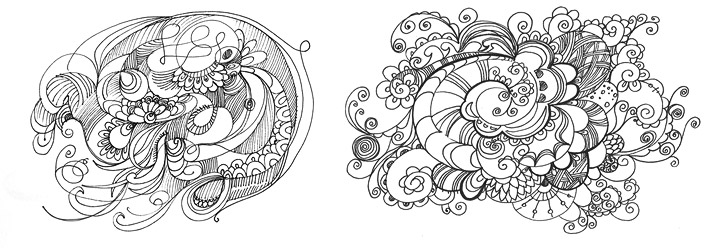 doodling, дудлинг картинки, рисунки - дудлы