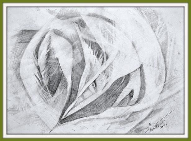 Авторская техника рисования простым карандашом