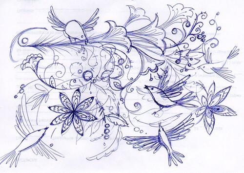 Дудлинг рисунки