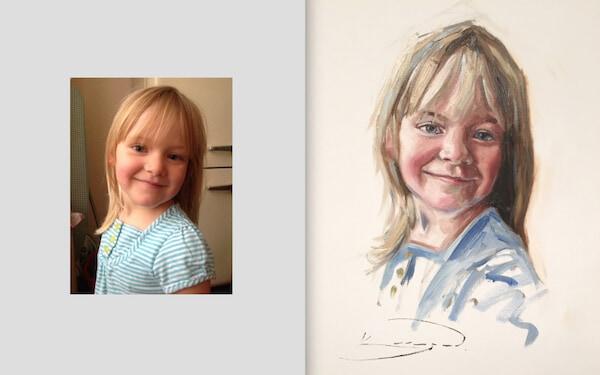 как создать фон к портрету