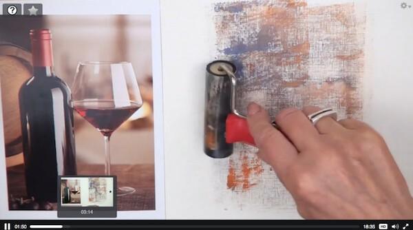 рисование фона с помощью валика