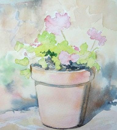 Пишем цветы герани: мастер-класс в картинках