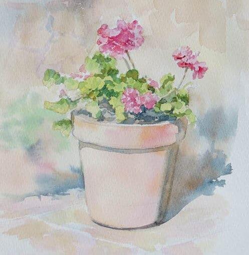как нарисовать красивый цветок герани