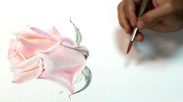 la fe художник , розовая роза