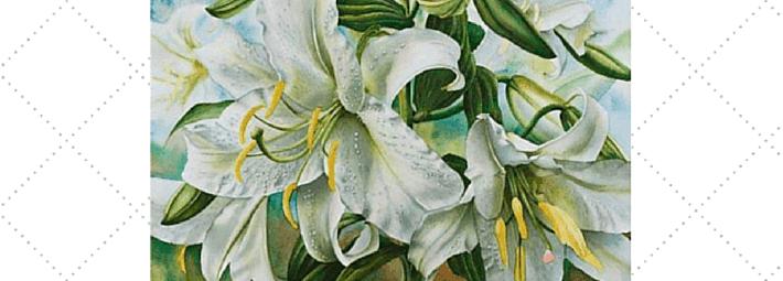 как писать белые цветы