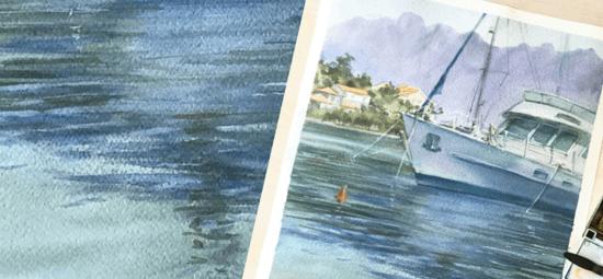 морской пейзаж с яхтами, Марина Трушникова