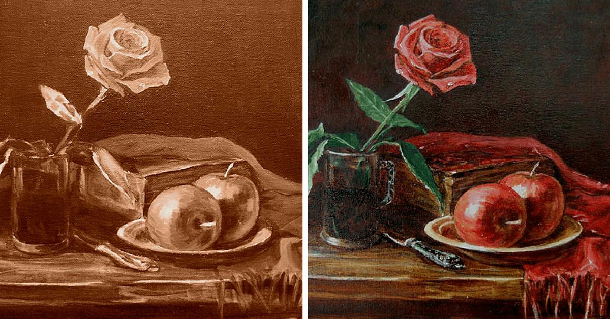 Натюрморты цветов мастер класс