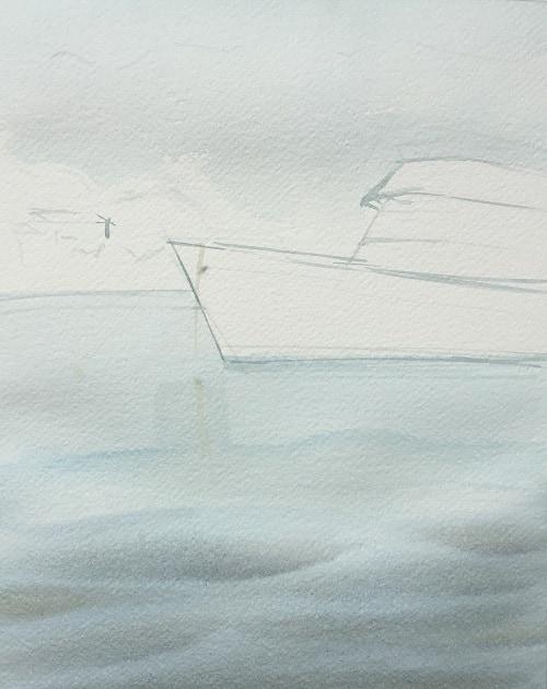 акварель, фоновая заливка