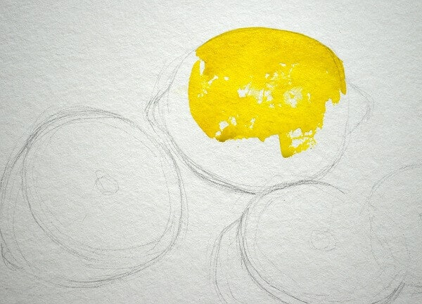 Пишем лимоны акварелью