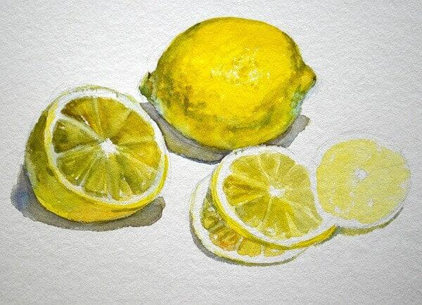Прорисовываем лимонные дольки