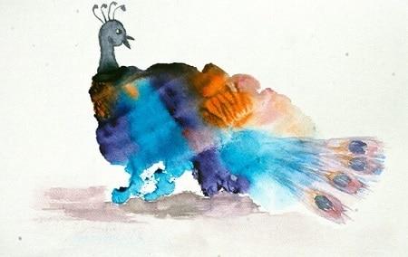 Образы птиц в монотипии