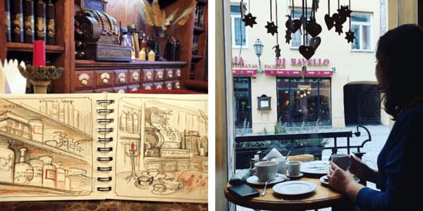 Почему люди рисуют: зарисовки в кафе, ожидание