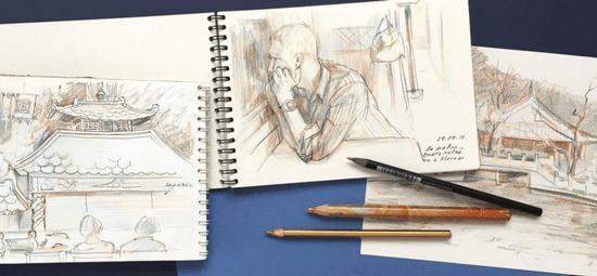 зарисовки карандашом