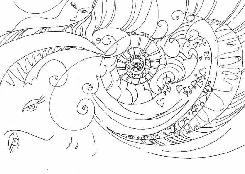дудлинг картинки: спонтанный рисунок М.Трушниковой
