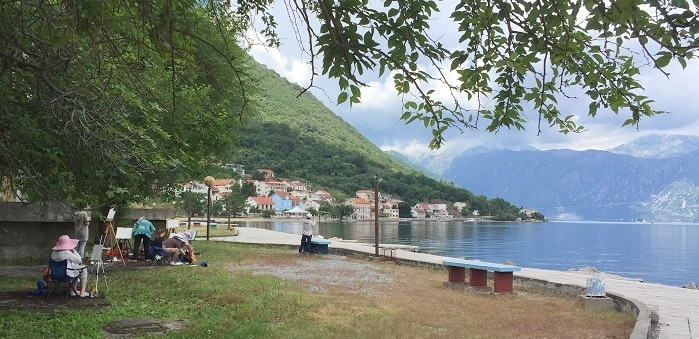 пленэр в Черногории_Боко-которский залив
