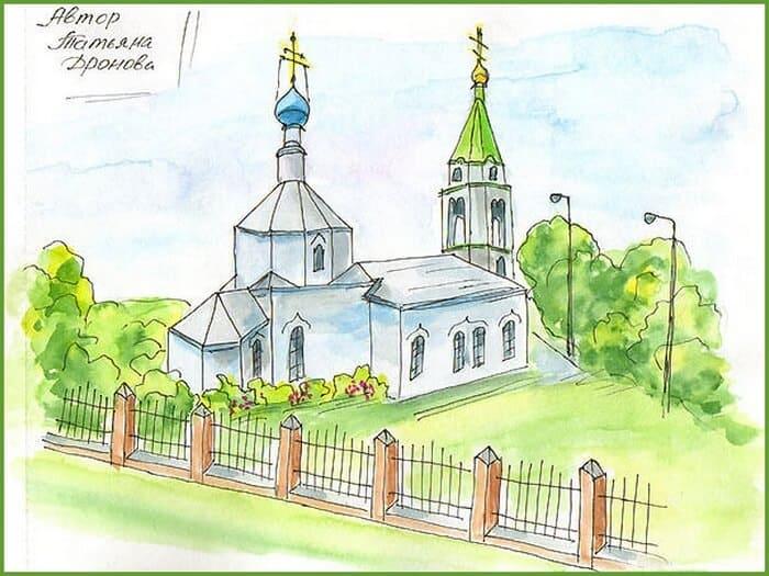 рисунки в скетчбуках, города России
