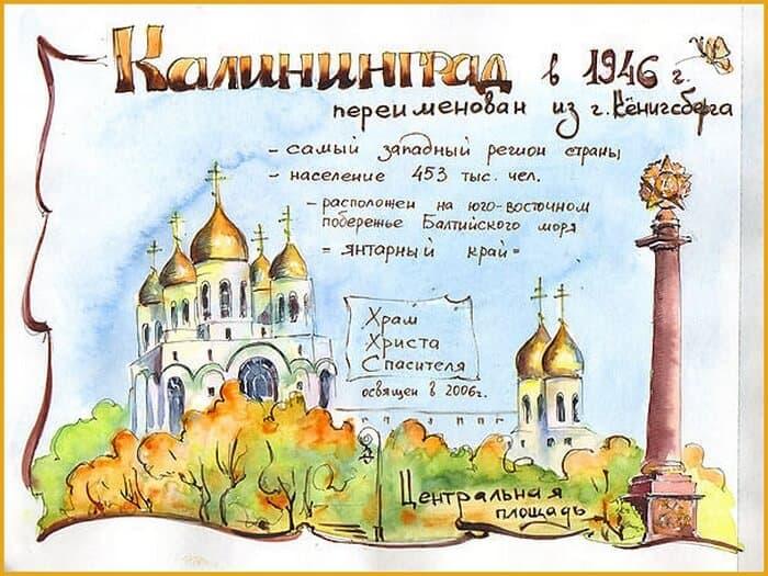 Калининград, скетчинг, зарисовка