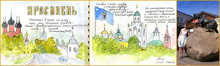 Ярославль, рисунки для скетчбука