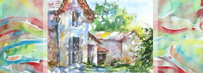 пейзаж акварелью, Трушникова