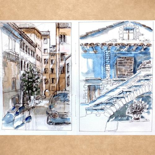 архитектура рисунки, идеи для скетчбука