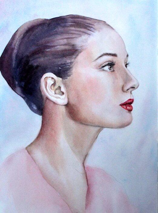 школа рисования Марины Трушниковой, рисунки акварелью