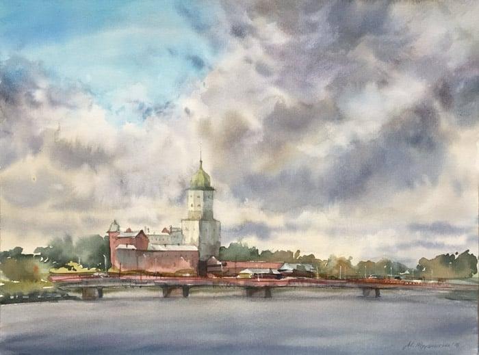 Выборгский пленэр, акварель, 2016. Марина Трушникова