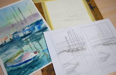 зарисовки, композиция, акварельный мастер-класс
