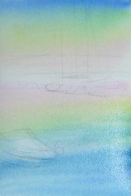 яхты: набросок и фоновая заливка