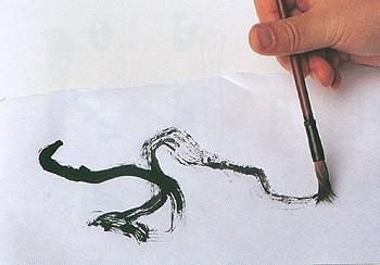 как нарисовать ветку, живопись суми э