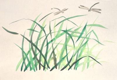 Травинки и стрекозы. Марина Трушникова