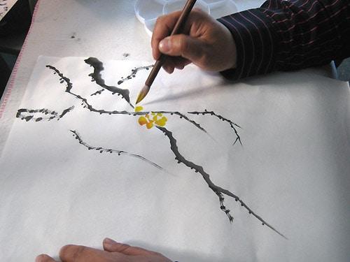 как рисовать ветку жасмина